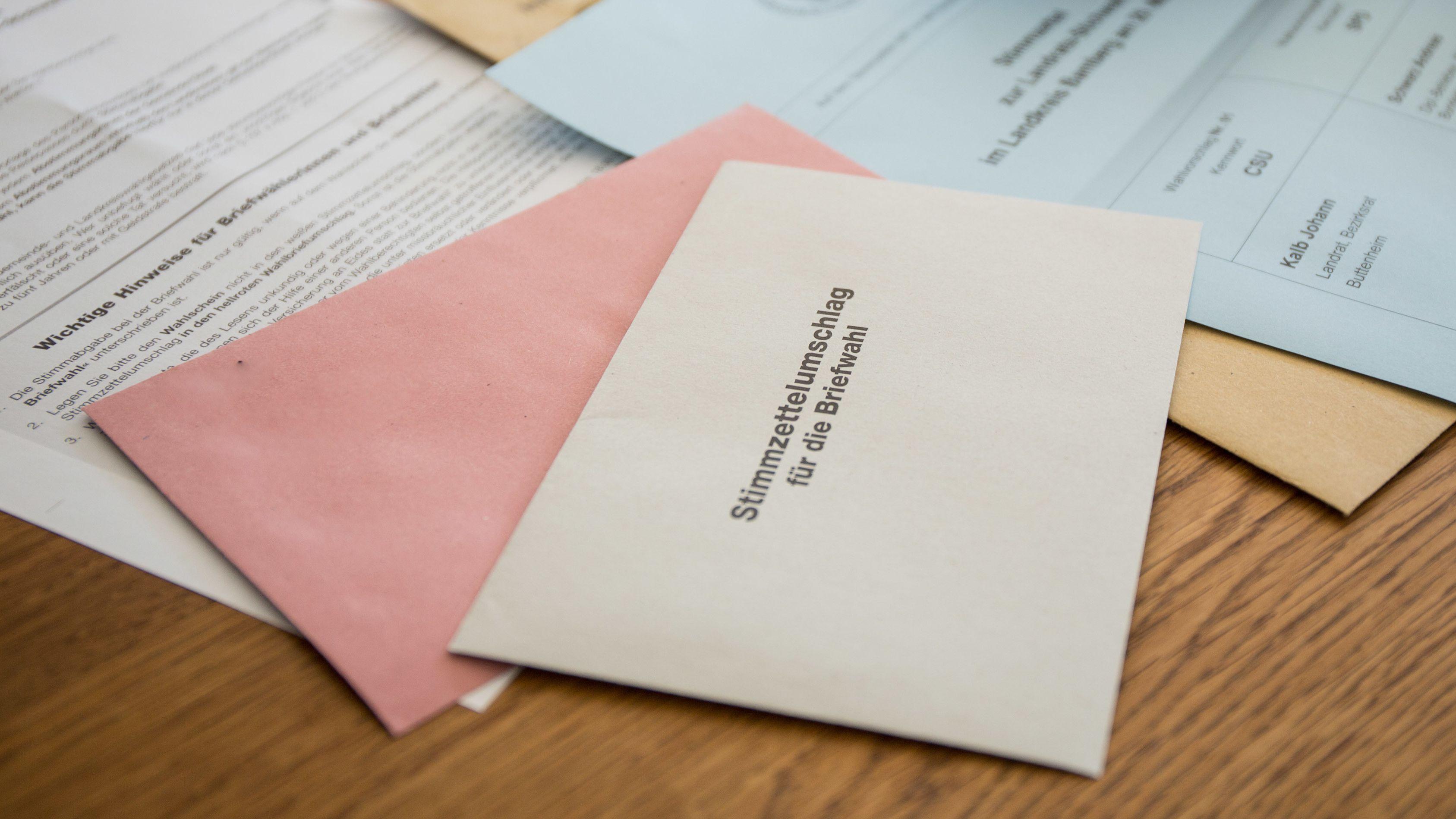 Stimmzettel-Umschlag für die Briefwahl