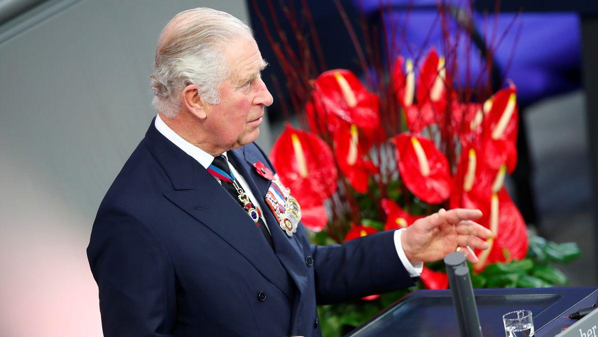 Prinz Charles hält am 15.11.2020 im Bundestag eine Gedenkrede zum Volkstrauertag.