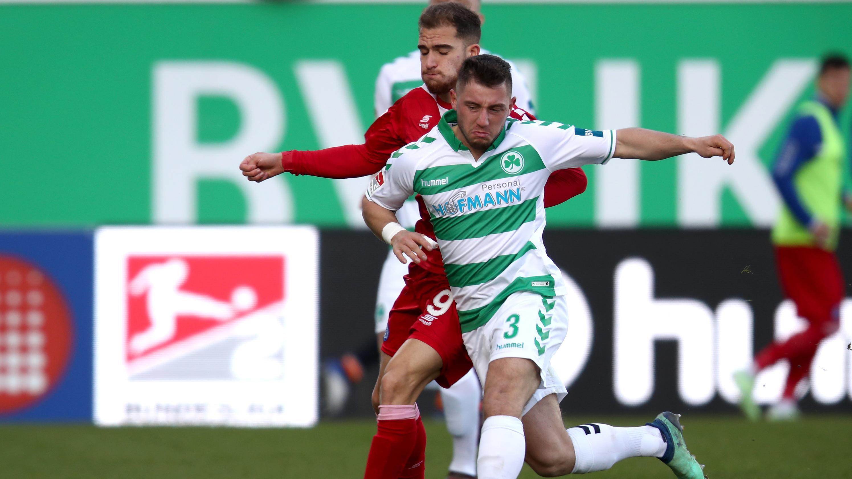 Szene aus dem Spiel Fürth gegen Duisburg