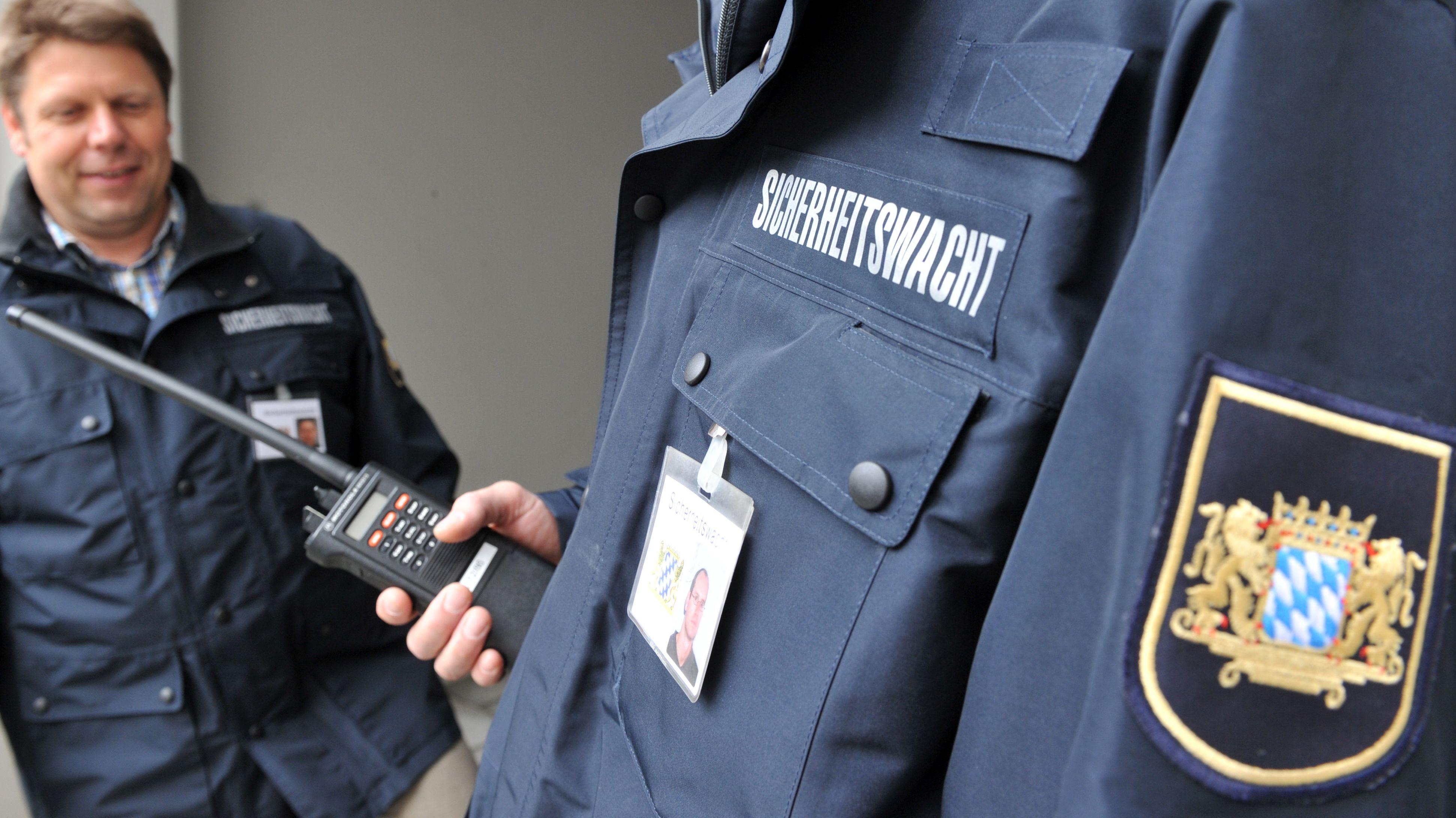 Mitglieder der Sicherheitswacht in Augsburg