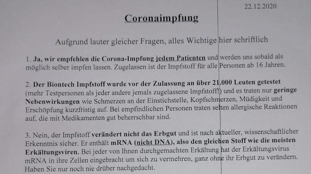 Mit diesem Schreiben landete der Hausarzt Christian Kröner einen viralen Hit.