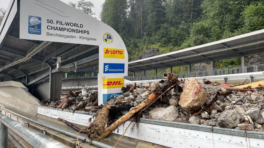 Die zerstörte Bobbahn am Königssee