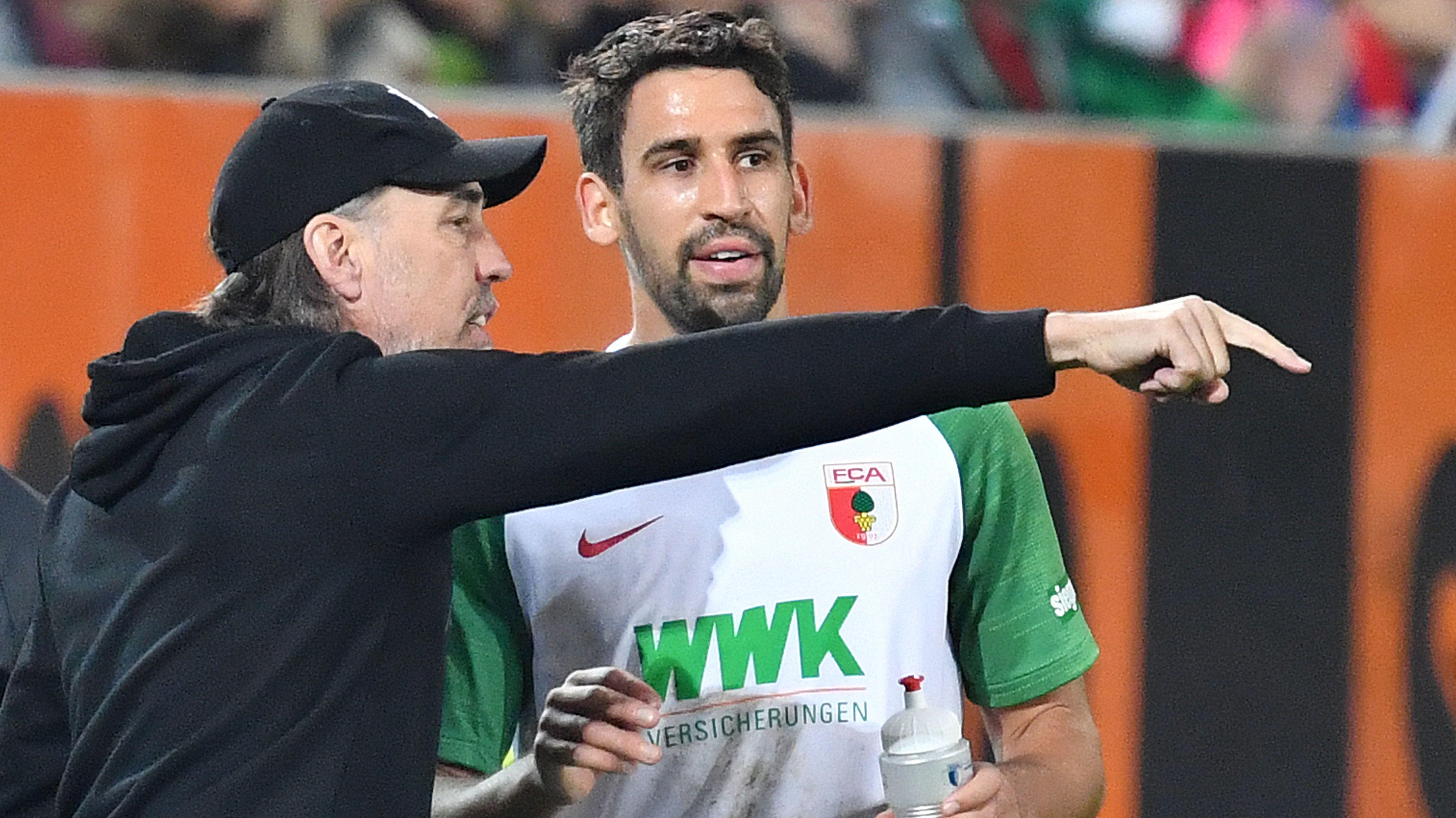 Trainer Martin Schmidt (l.) mit Rani Khedira