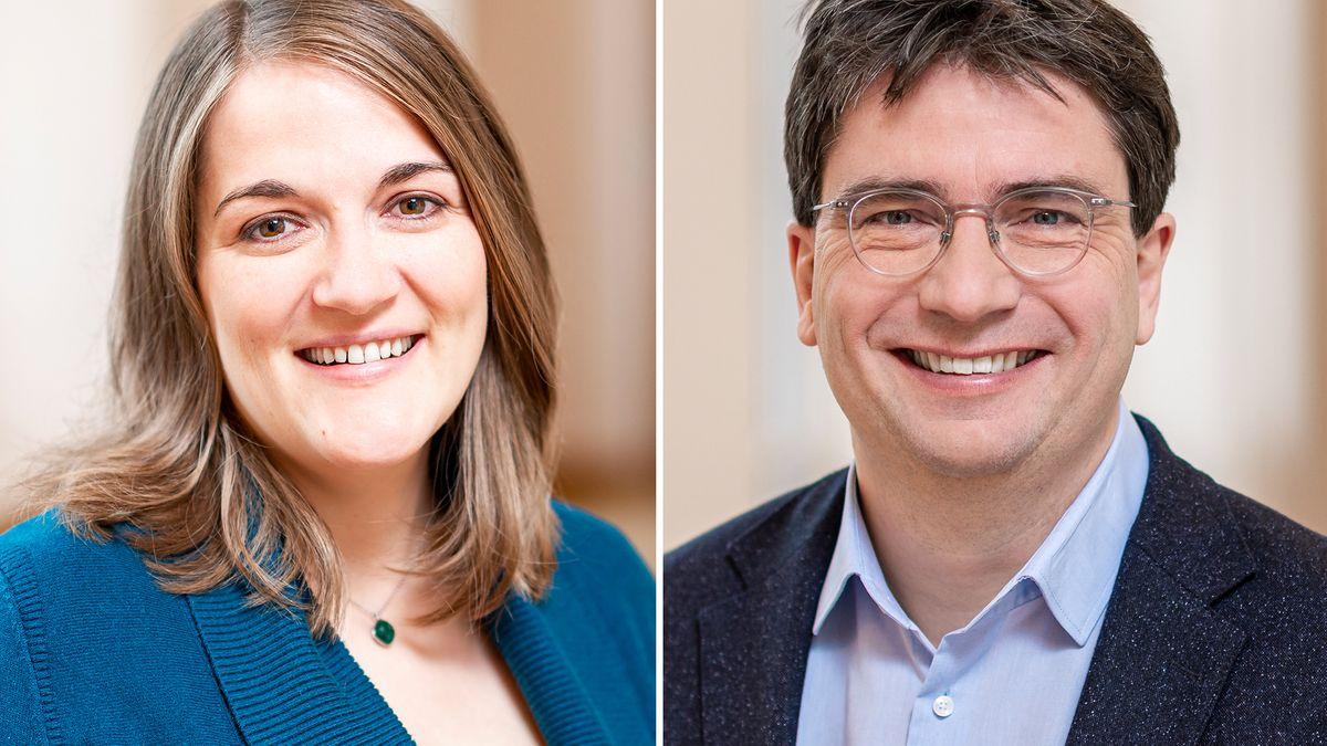 Weitere Bewerber um SPD-Landesvorsitz in Bayern: Ronja Endres und Florian von Brunn.