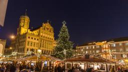 Weihnachtsmarkt in Augsburg  | Bild:BR