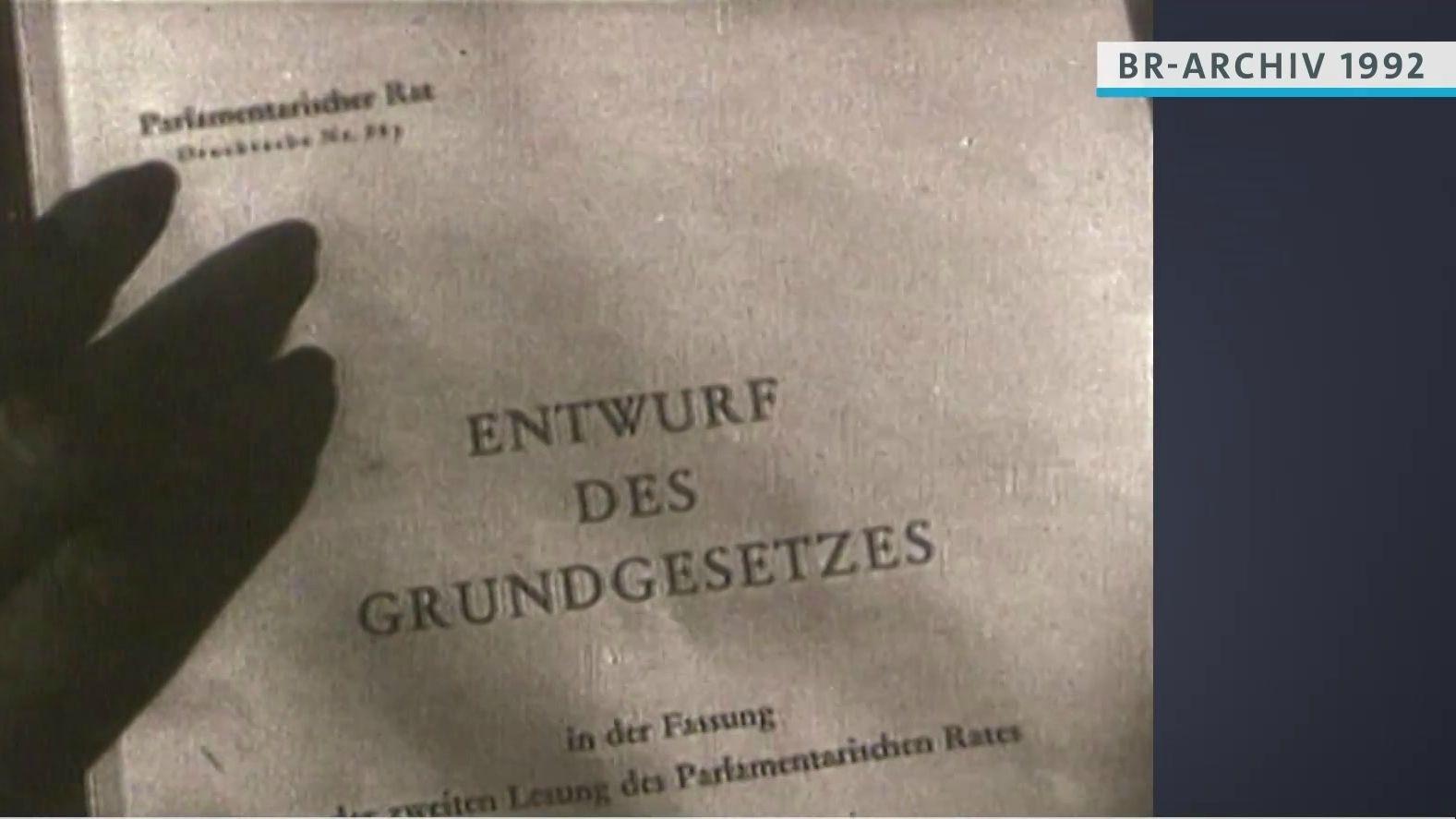 Frontseite Entwurf des Grundgesetzes