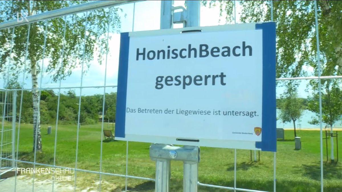 Niedernberg sperrt Badesee-Liegefläche
