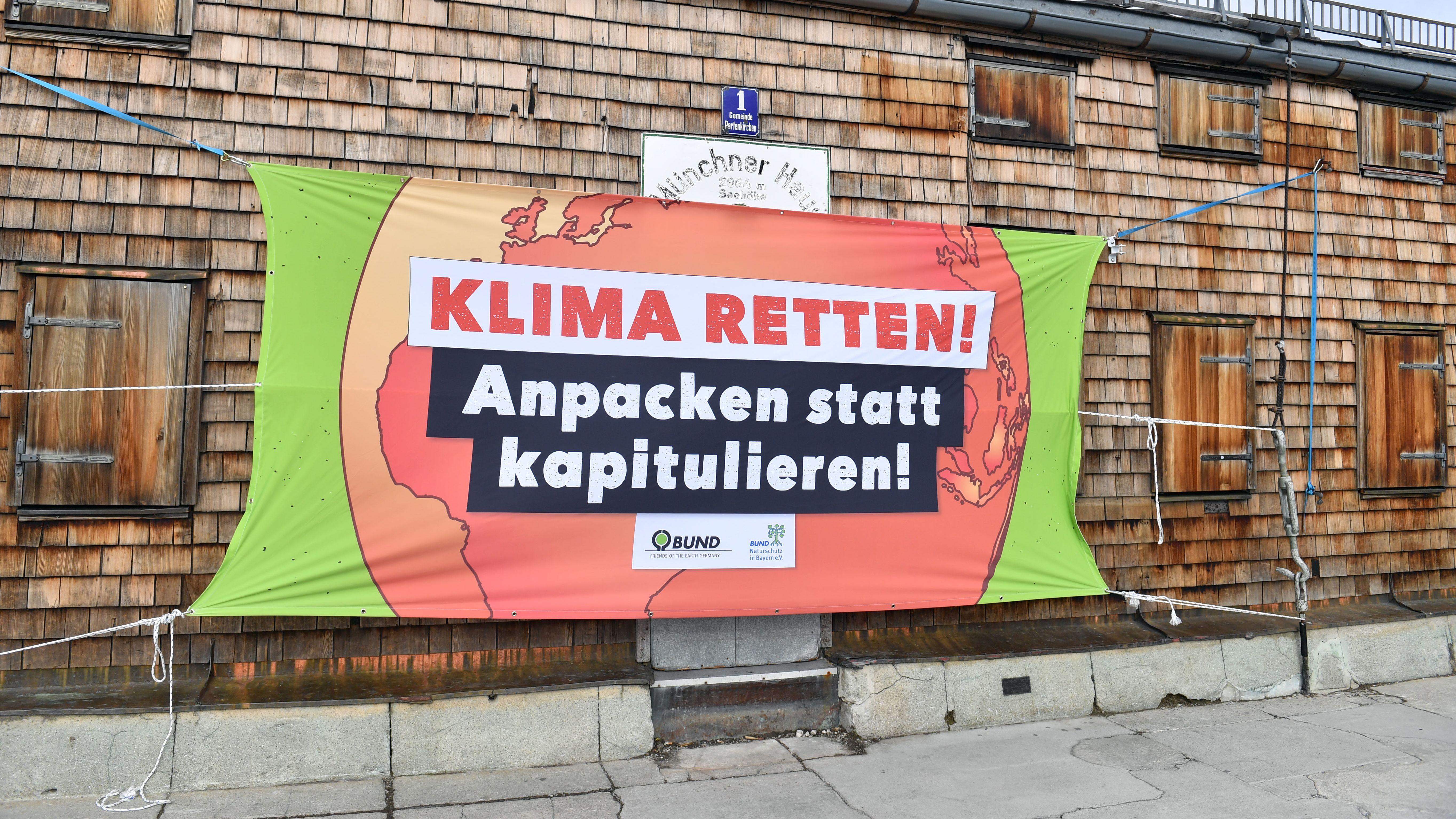 Symbolbild: Plakat des BUND zum Klima
