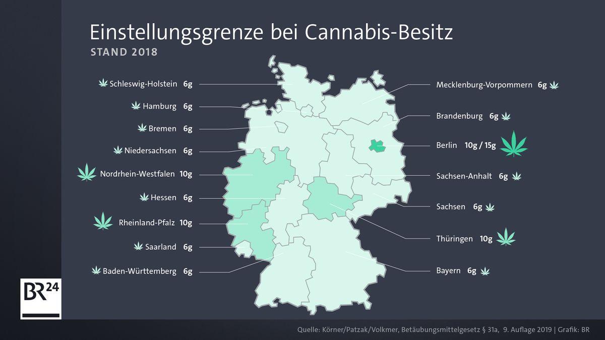 Einstellungsgrenze bei Cannabis-Besitz