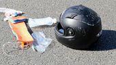 Symbolbild: Motorradhelm bei Unfall | Bild:BR/Georg Barth