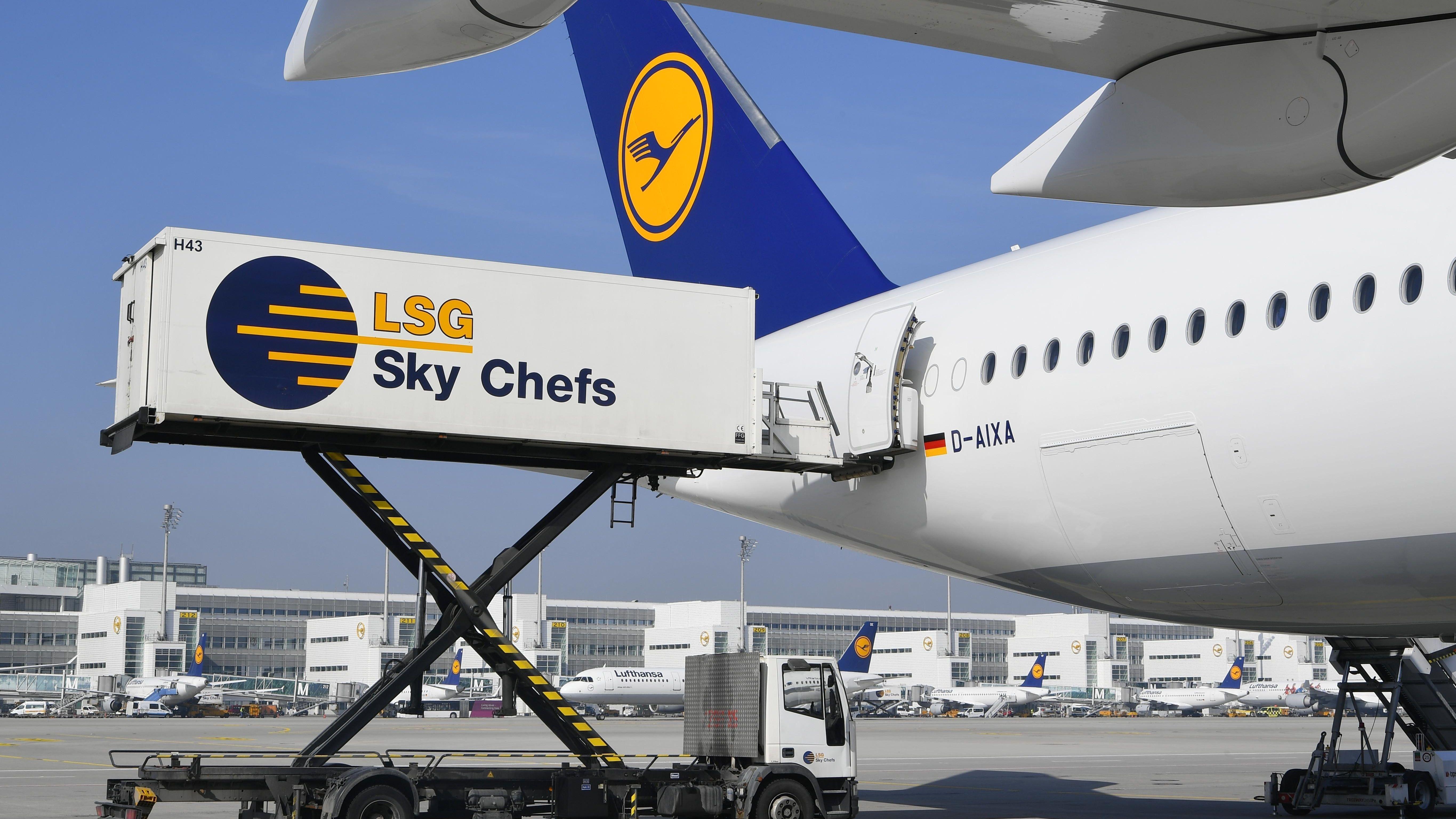 Catering Abfertigung durch LSG Sky Chefs, Lufthansa Airbus A350-900