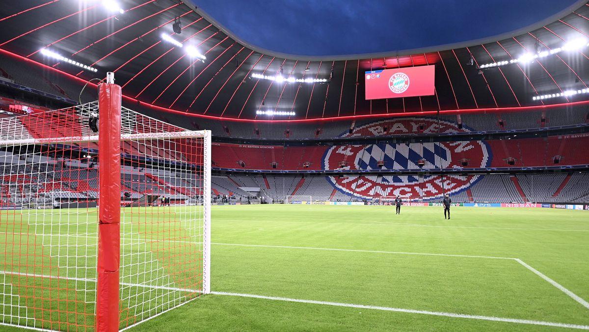 Die Münchner Allianz Arena ohne Zuschauer