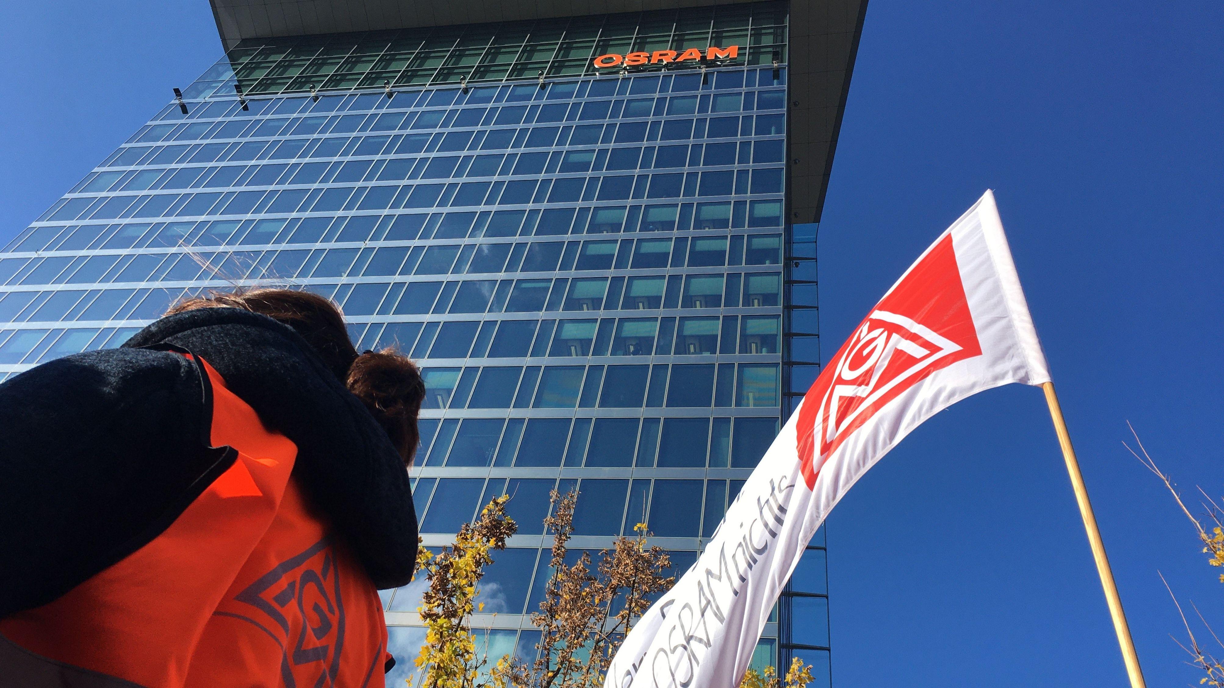 Kundgebung der Osram-Mitarbeiter in München