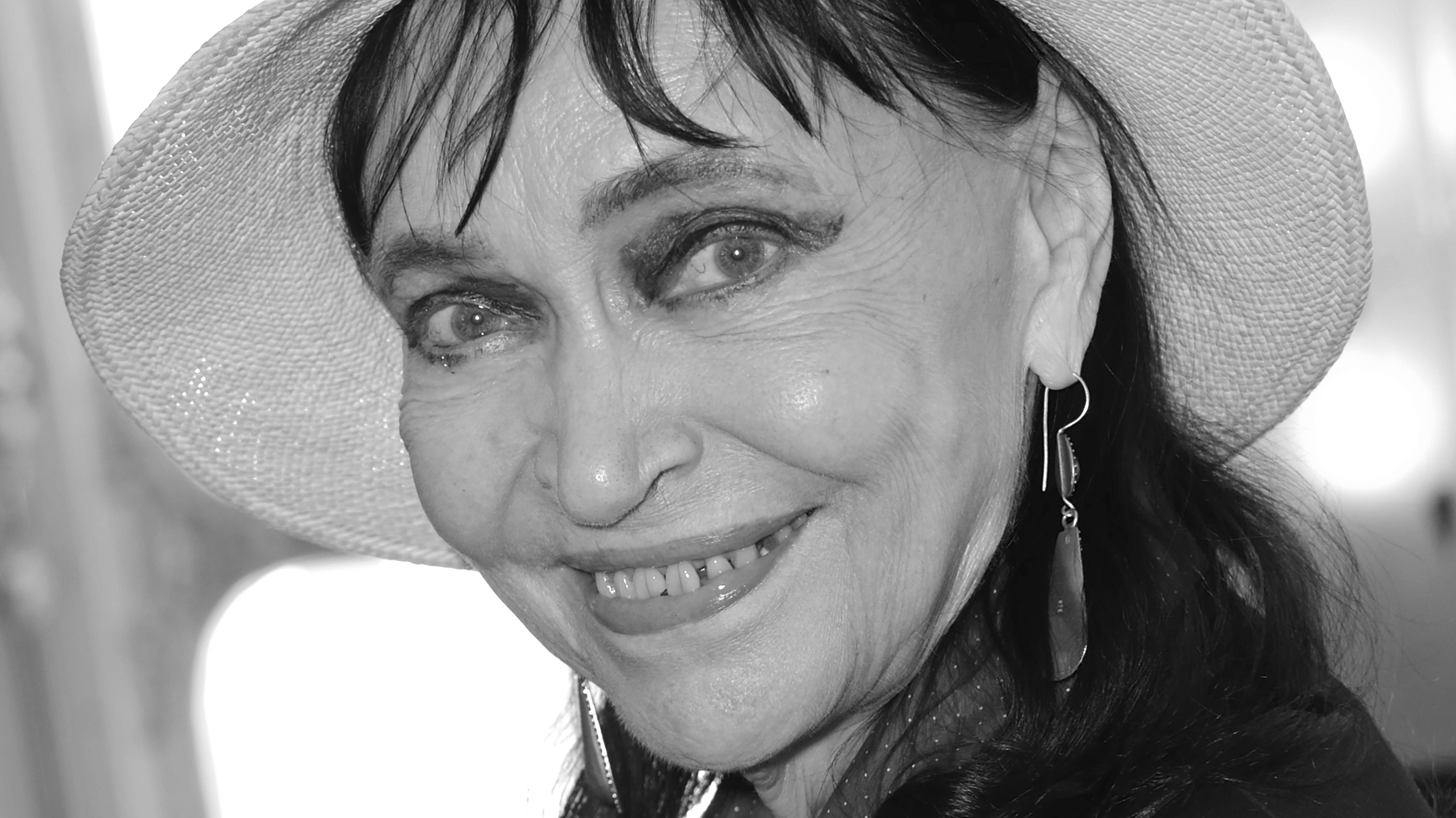 Die französische Schauspielerin Anna Karina