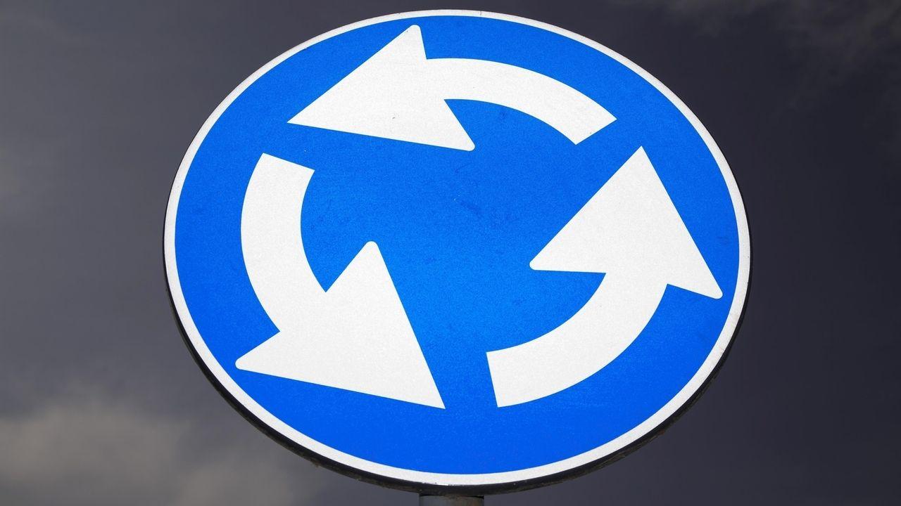Kreisverkehr-Schild