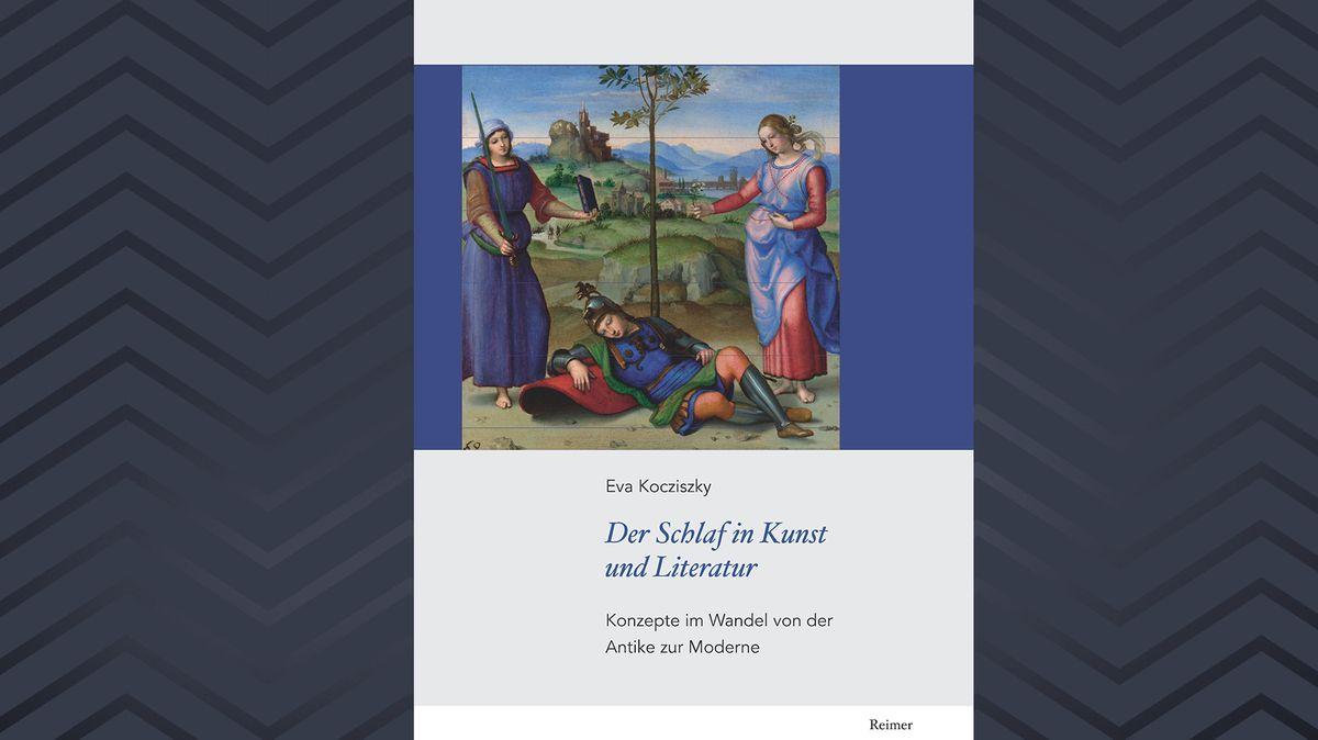 """Cover des Buches von  Eva Kocziszky: """"Der Schlaf in Kunst und Literatur"""" mit einer idyllischen Darstellung eines Schlafenden unter einem Baum"""