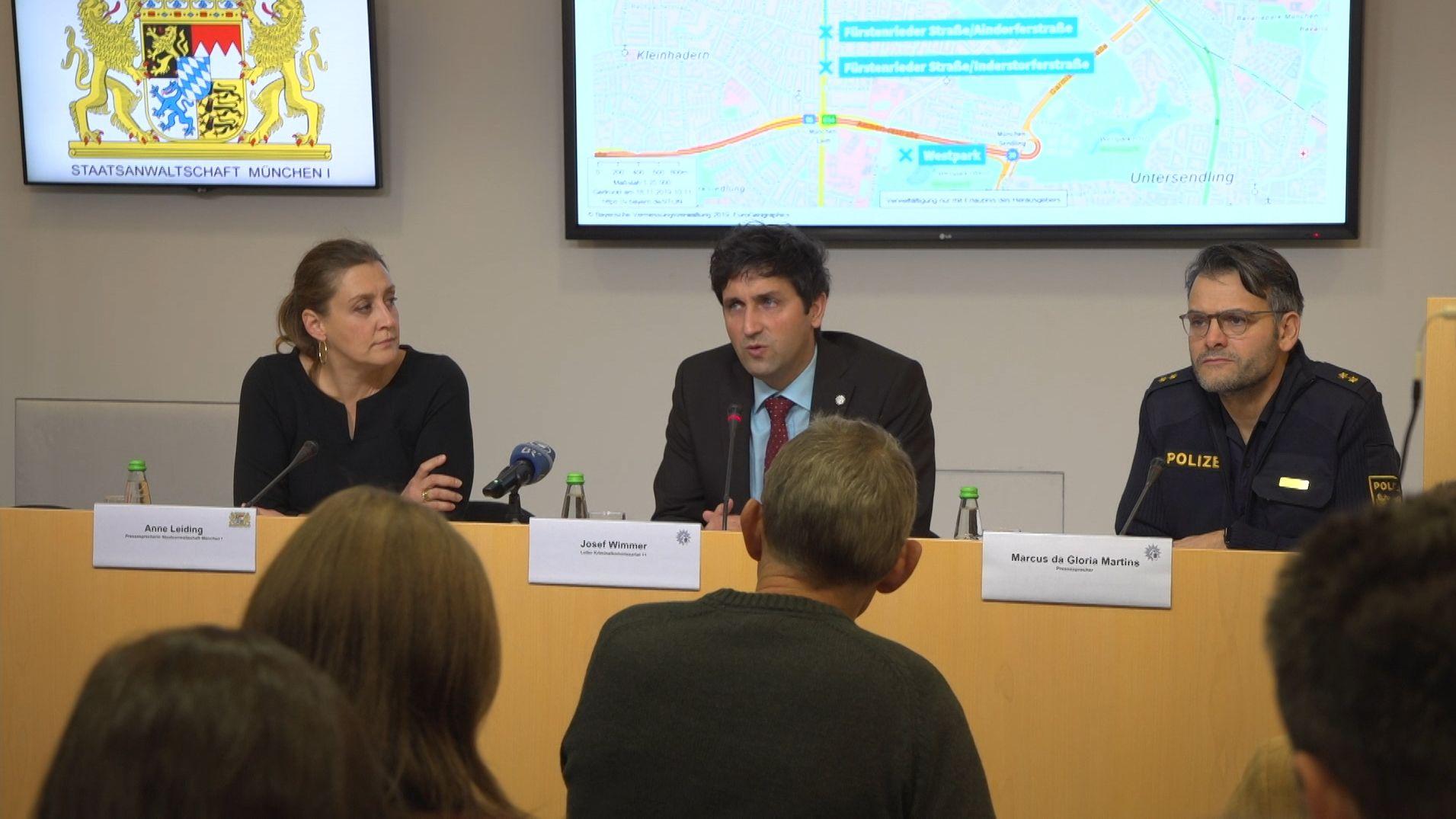 Pressekonferenz der Staatsanwaltschaft.
