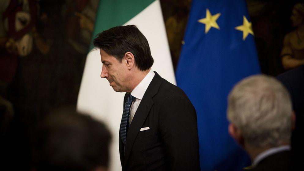 Italiens Ministerpräsident Giuseppe Conte geht vorerst leer aus.   Bild:Picture Alliance/Christian Minelli