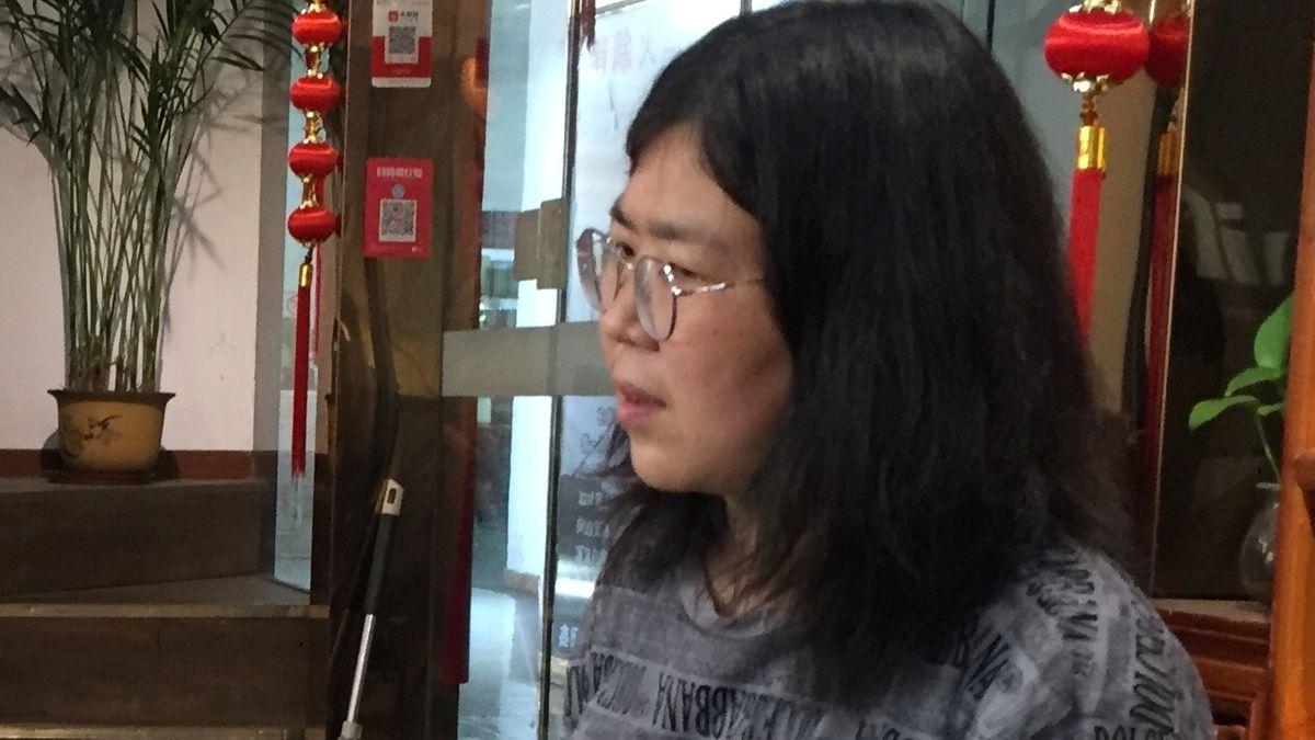 Die Bürgerjournalistin Zhang Zhan in der chinesischen Stadt Wuhan