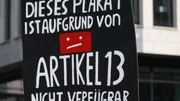 Protest gegen Urheberrechtsreform   Bild:picture alliance/Pacific Press Agency