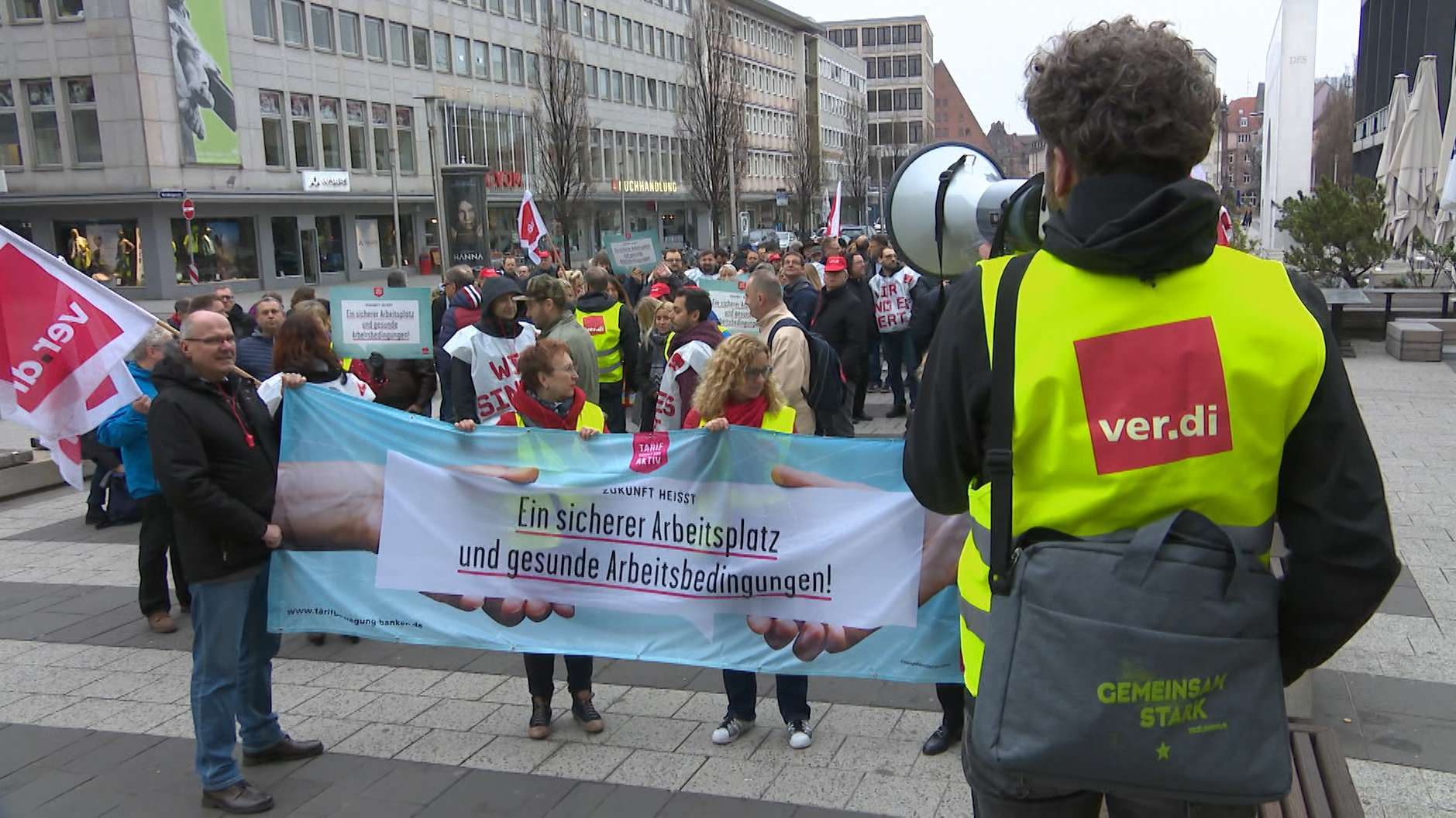 Großkundgebung von Bankangestellten in Nürnberg