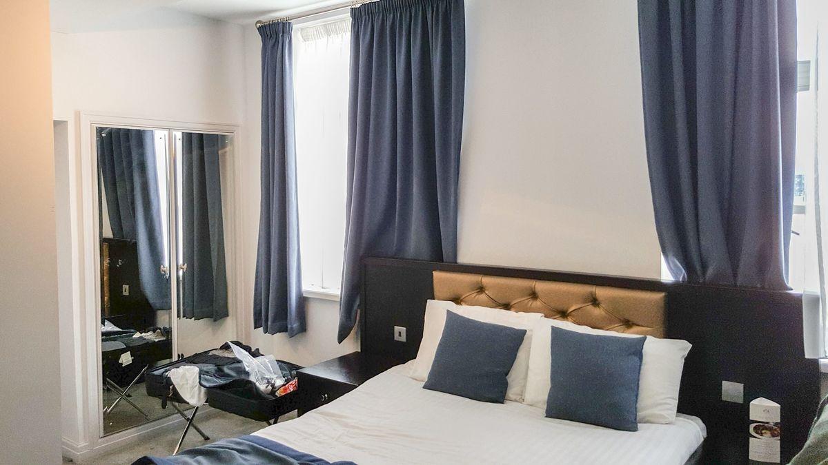 Hotelzimmer in München, aufgenommen im Oktober 2019.