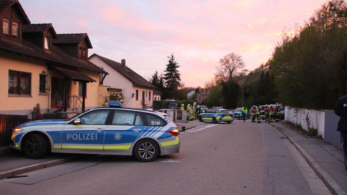Unfall mit zwei Streifenwagen nach Verfolgungsjagd in Grünthal.