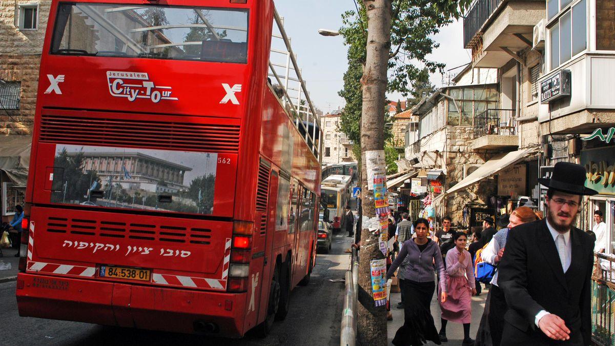 Touristenbus in Jerusalem