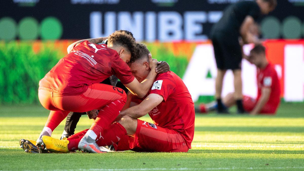Enttäuschung beim FC Ingolstadt nach dem Gegentreffer