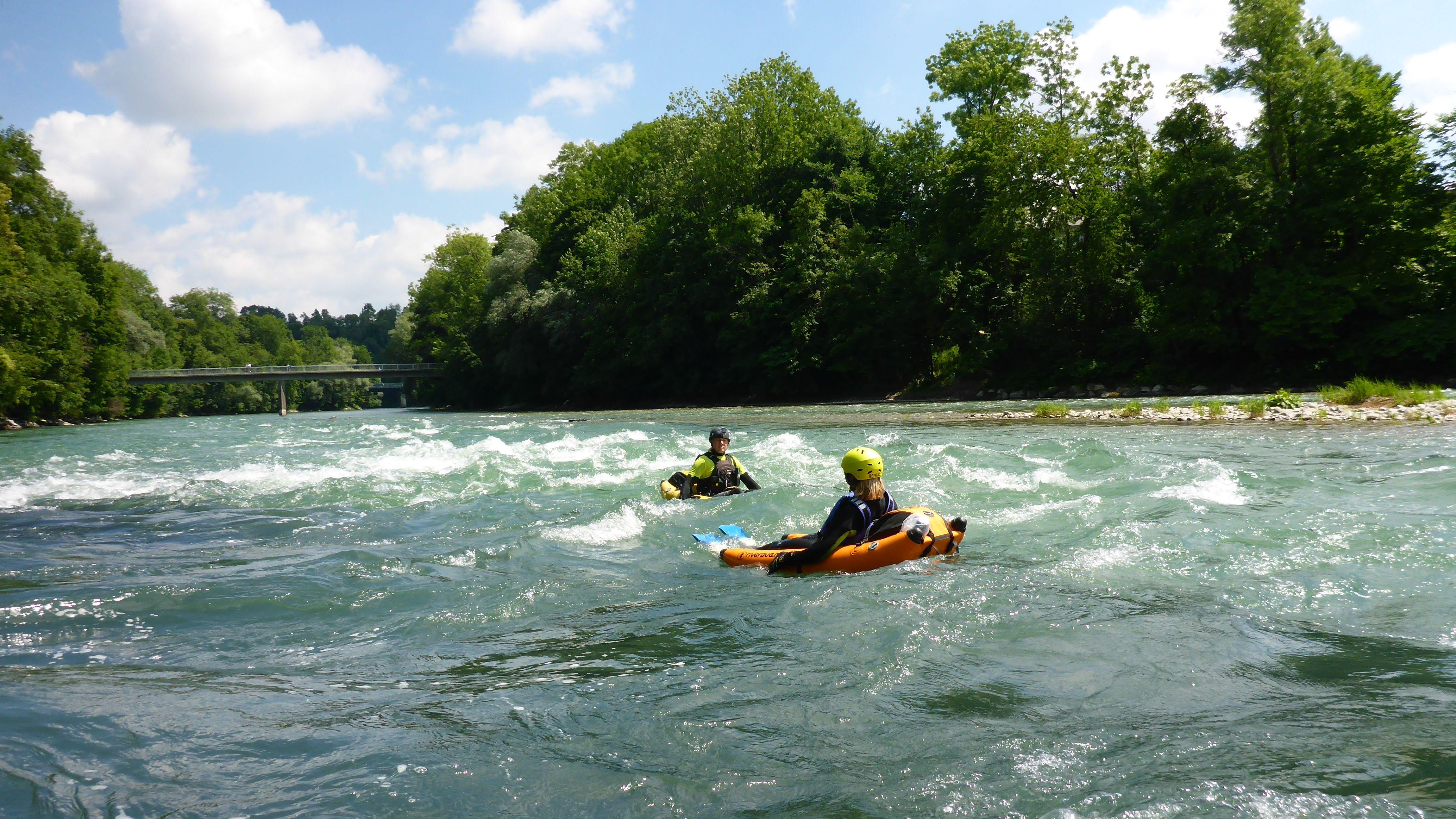 Im Riverbug unterwegs auf dem Lech