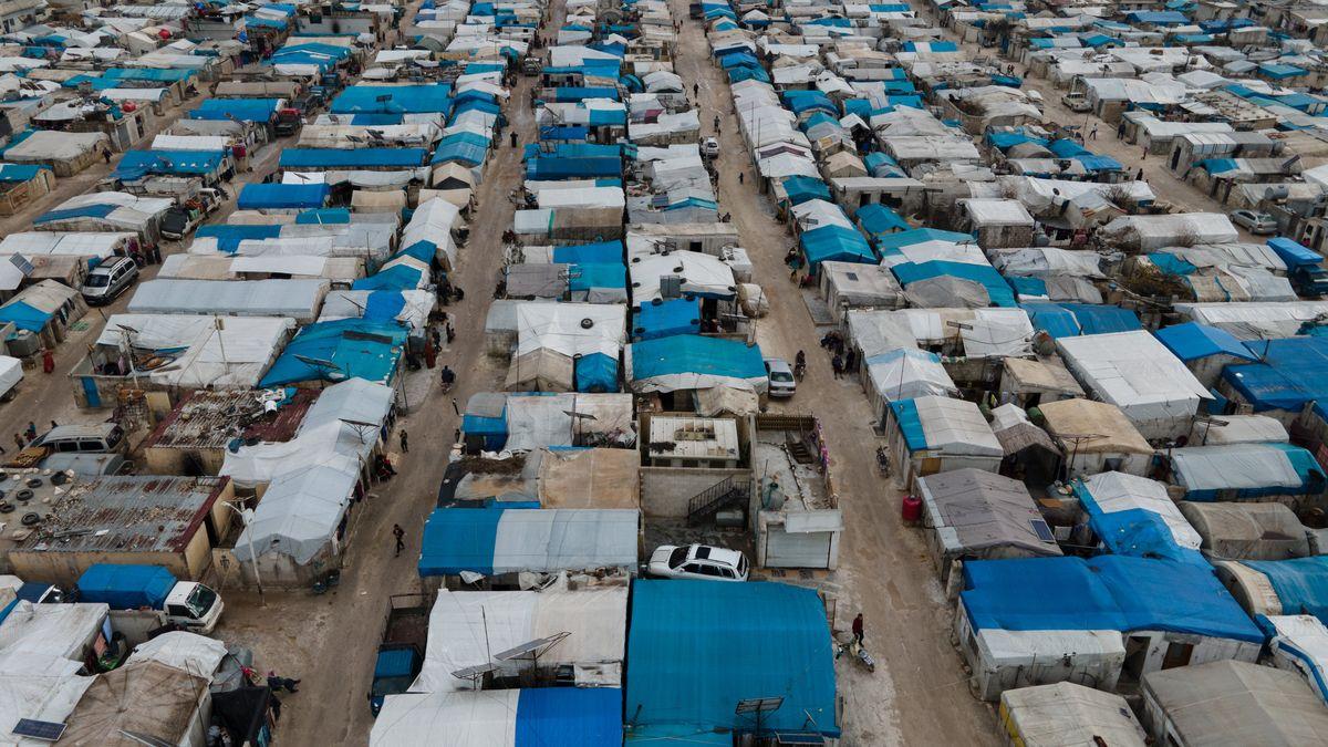 Zeltlager im Flüchtlingscamp Atma an der türkisch-syrischen Grenze