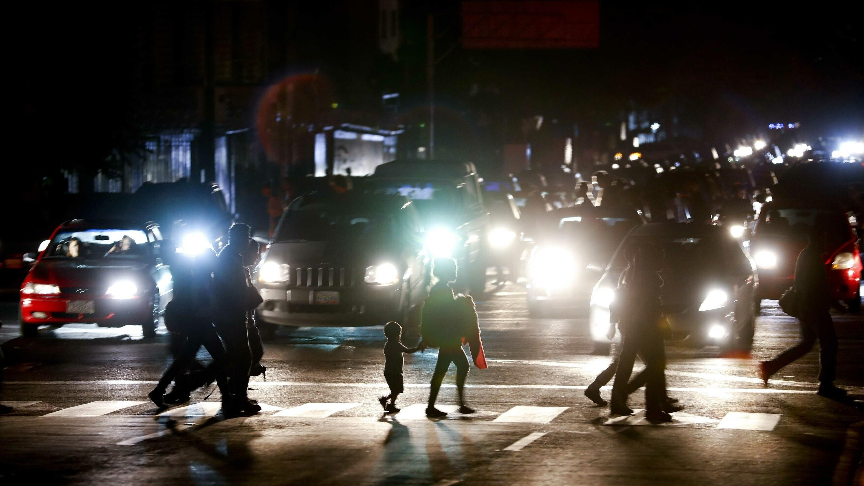 Der Stromausfall sorgte in Teilen Caracas' für ein Verkehrschaos