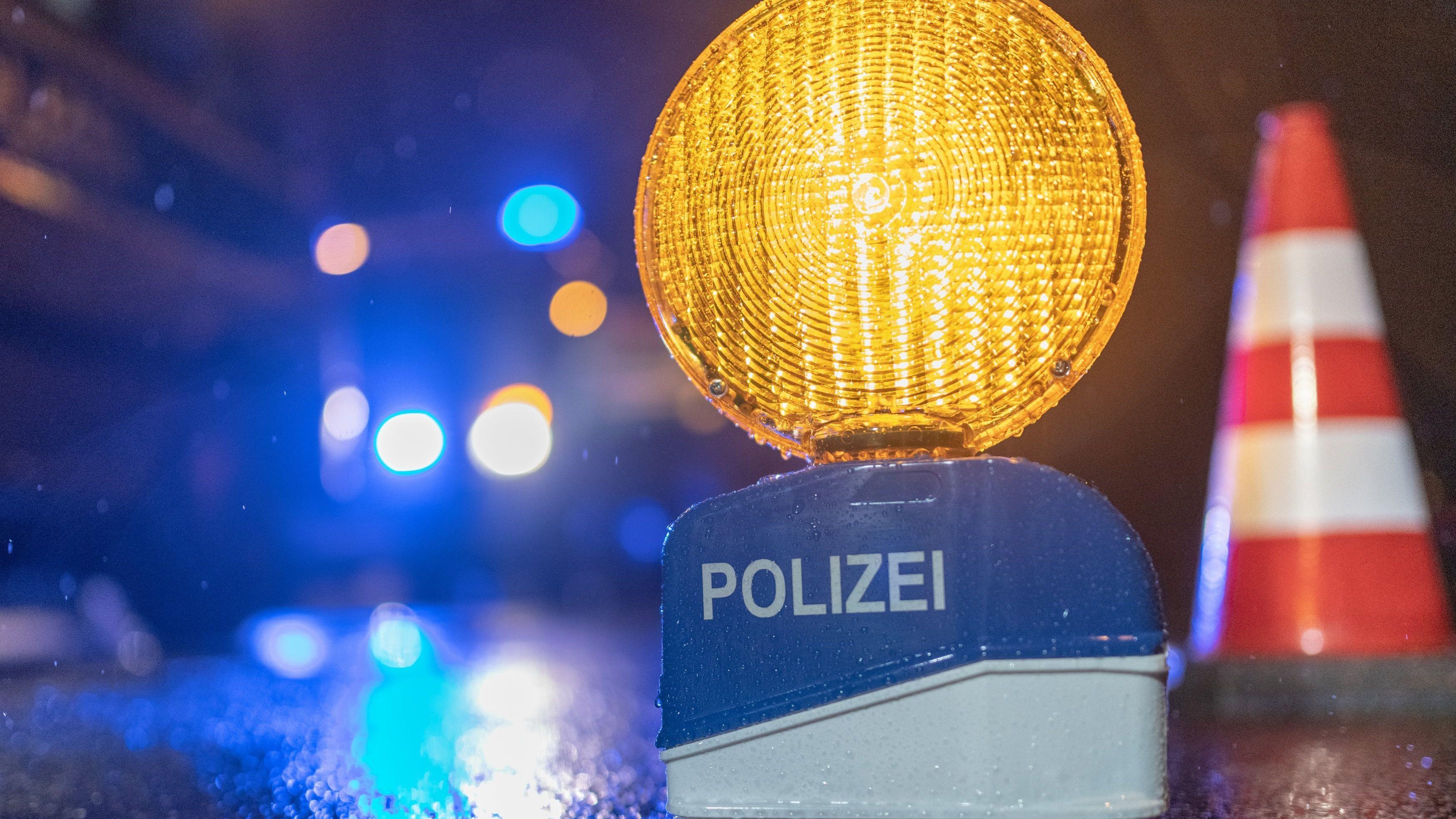 Ein Warnlicht der Polizei