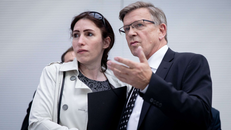 Die AfD-Bundetagsabgeordneten Mariana Harder-Kühnel und Gerold Otten