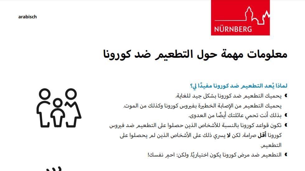 Der Flugblatttext in arabischer Sprache