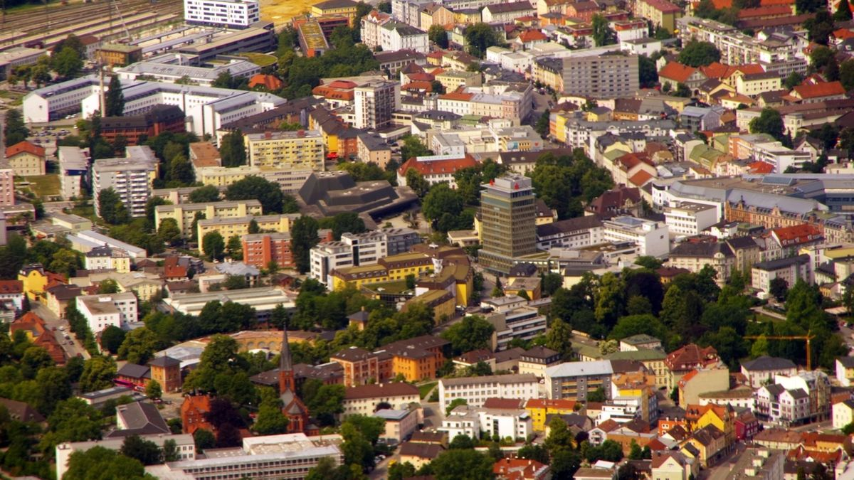 Blick auf Rosenheim.