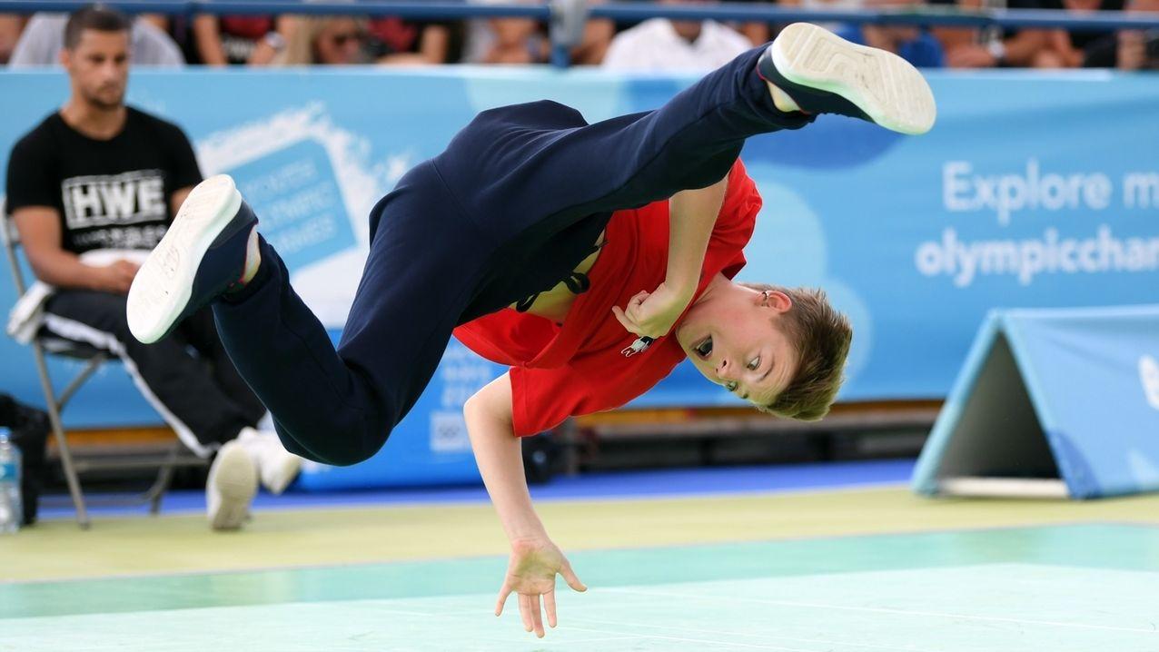 Breakdancer bei den Olympischen Jugend-Sommerspielen 2018