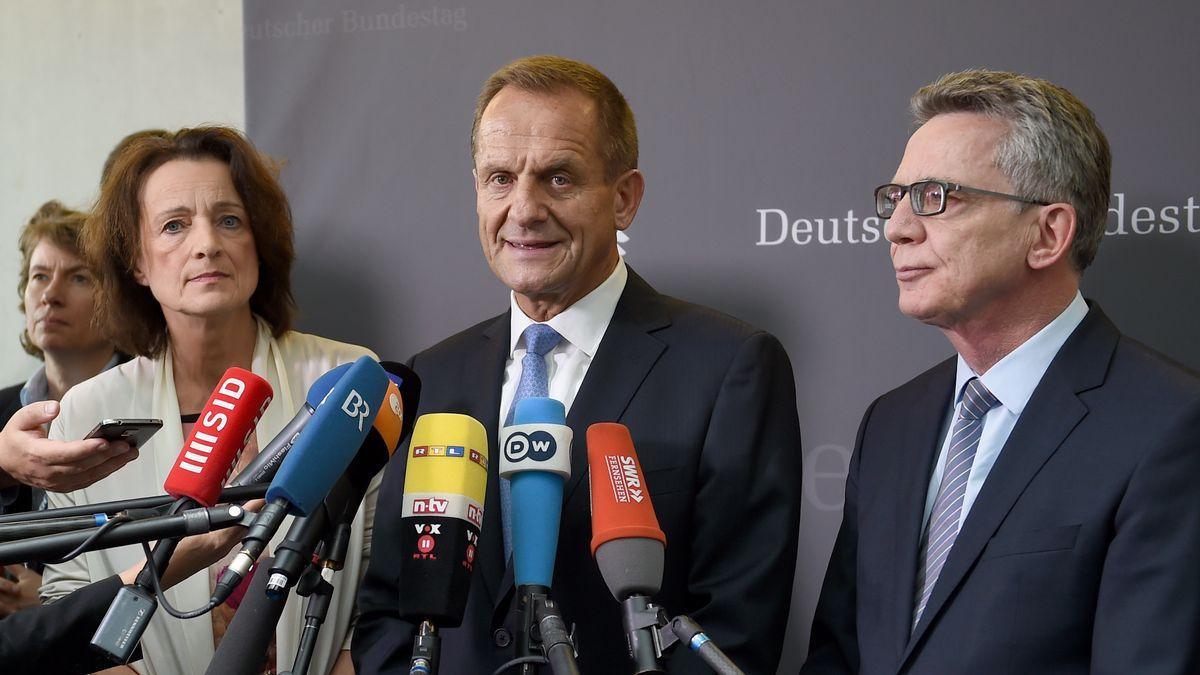 Dagmar Freitag, Alfons Hörmann, Thomas de Maizière (v.l., Archivbild 2016)
