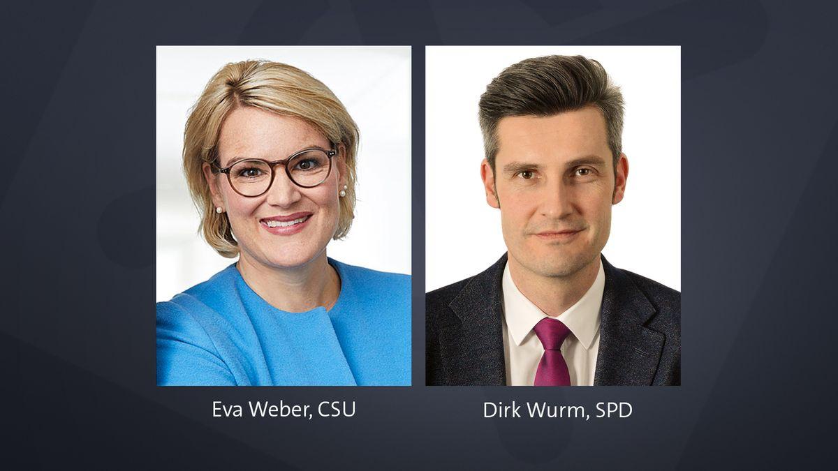 Eva Weber (CSU) und Dirk Wurm (SPD)