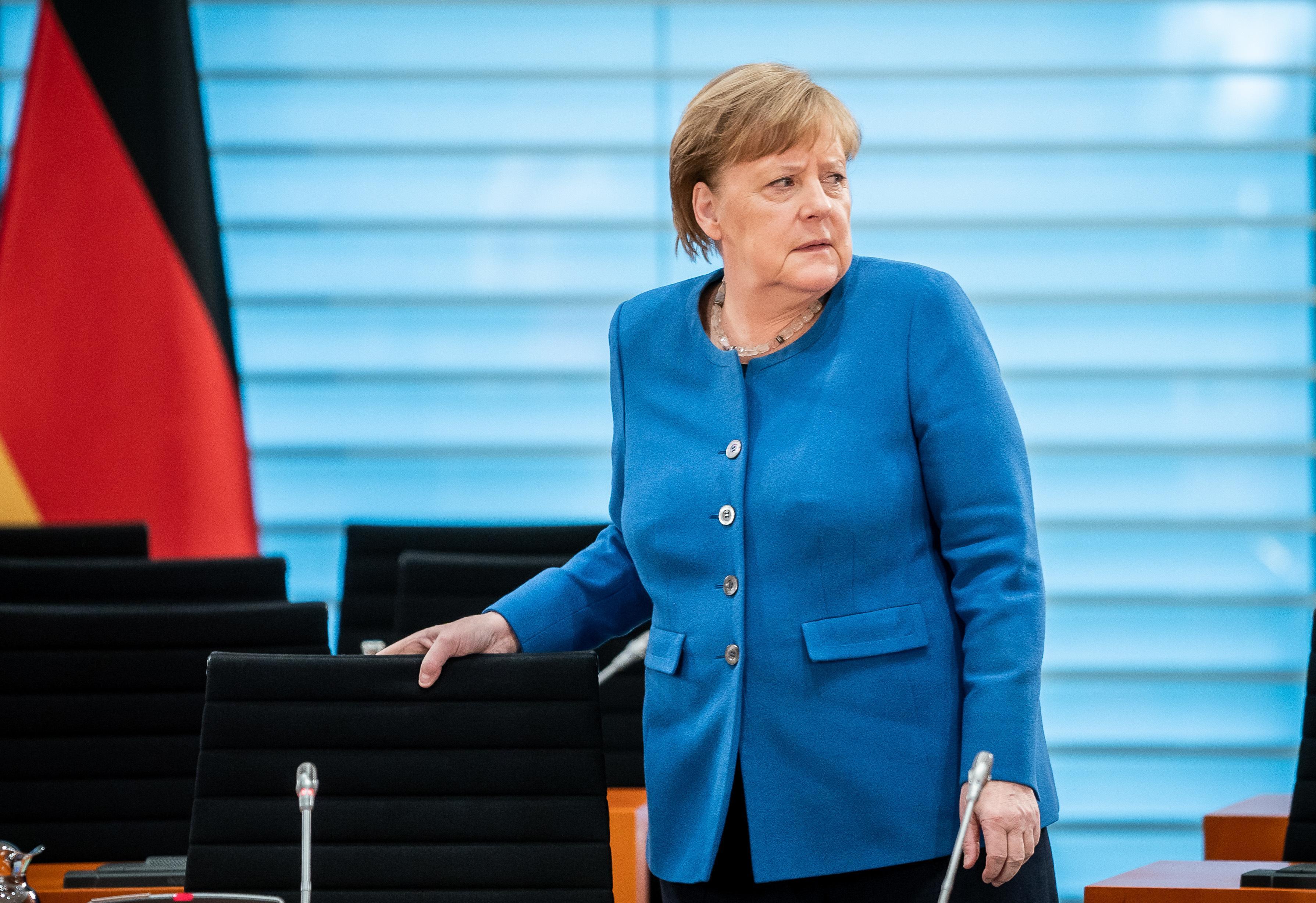 Bundeskanzlerin Angela Merkel in häuslicher Quarantäne