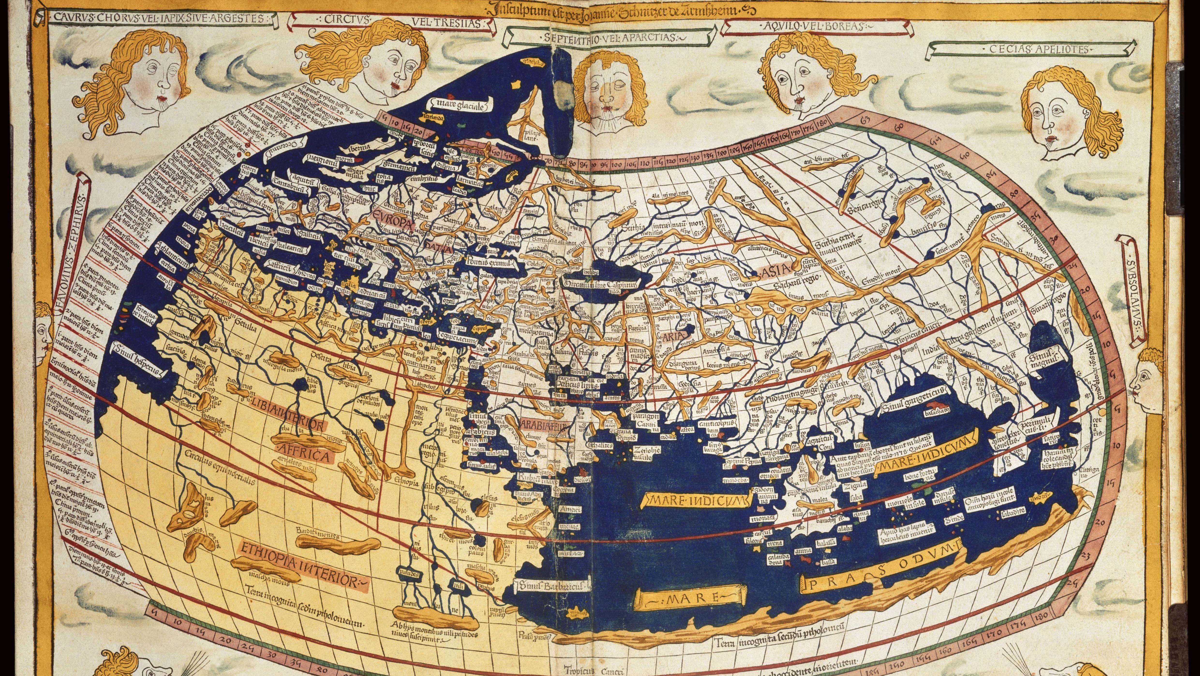Ptolemäische Weltkarte