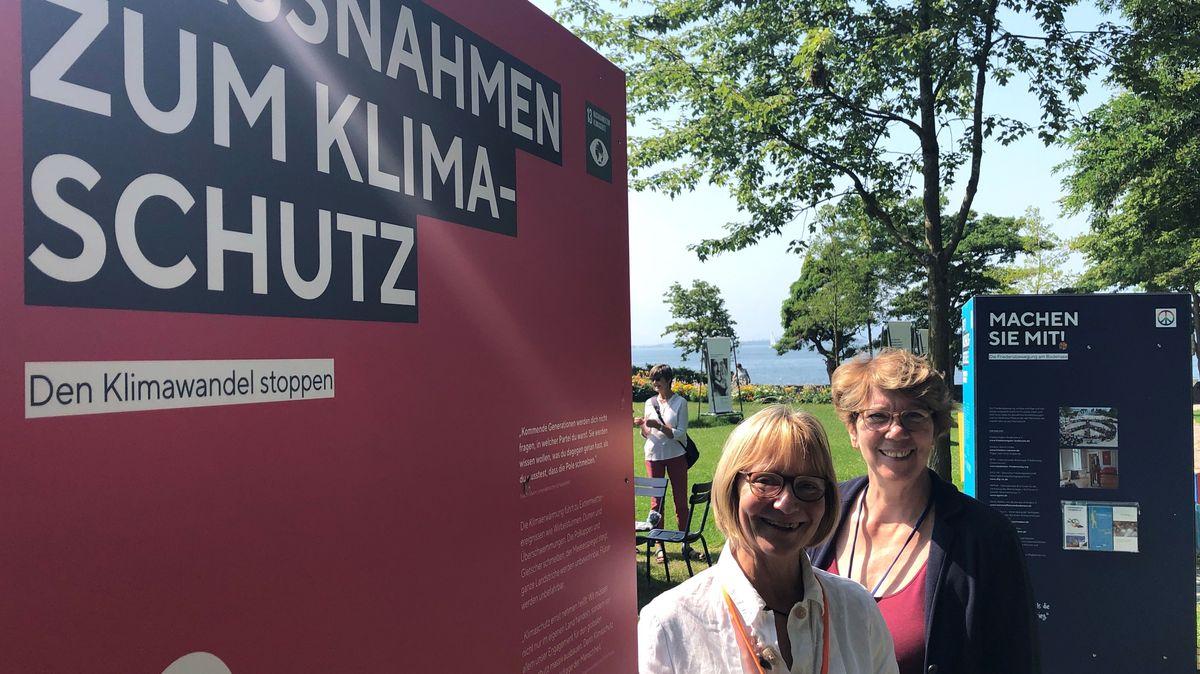 Stehle zum Thema Klimawandel auf der Gartenschau in Lindau