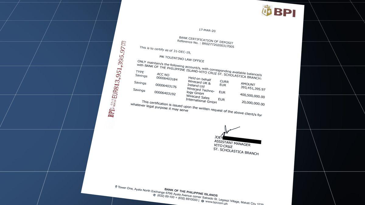 Zweifelhafte Bankbelege: BPI