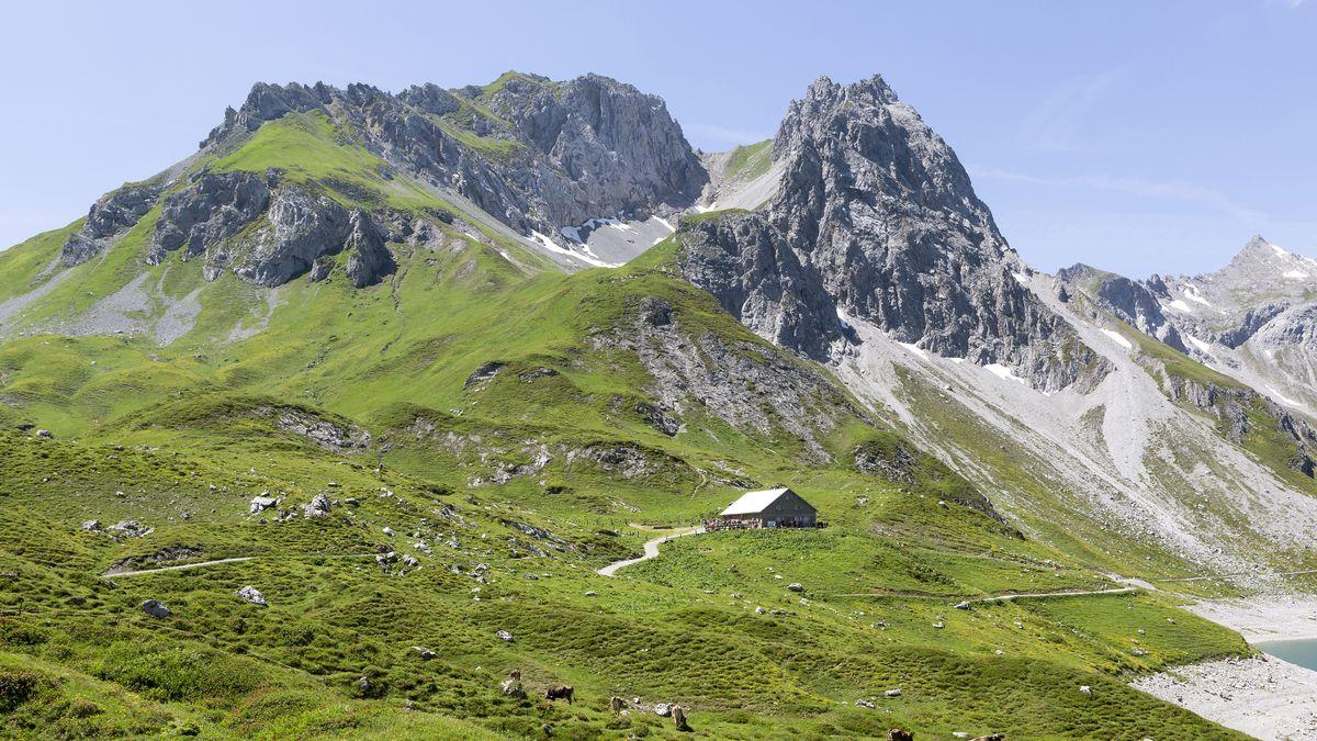 Landschaft um den Lünersee in Vorarlberg (Österreich)