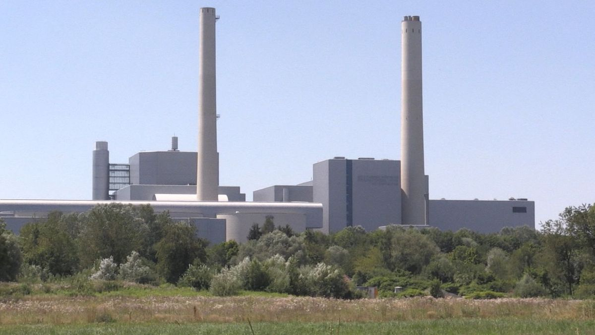 Das Heizkraftwerk München Nord in Unterföhring