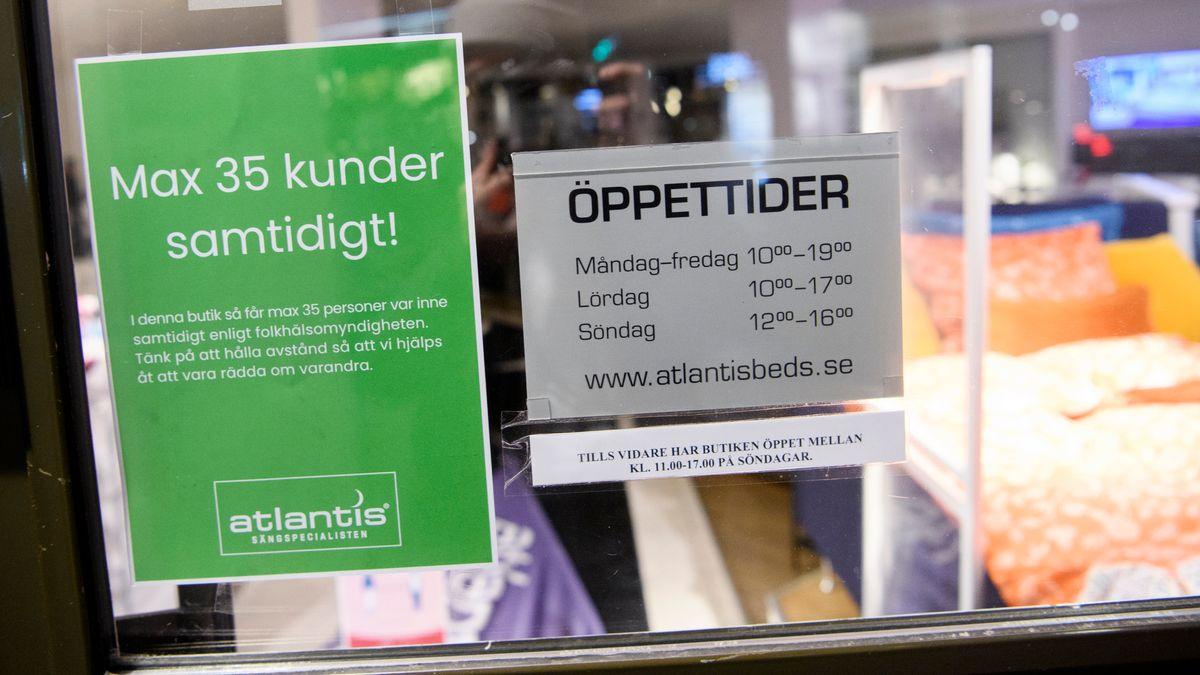 Eingang eines schwedischen Geschäfts