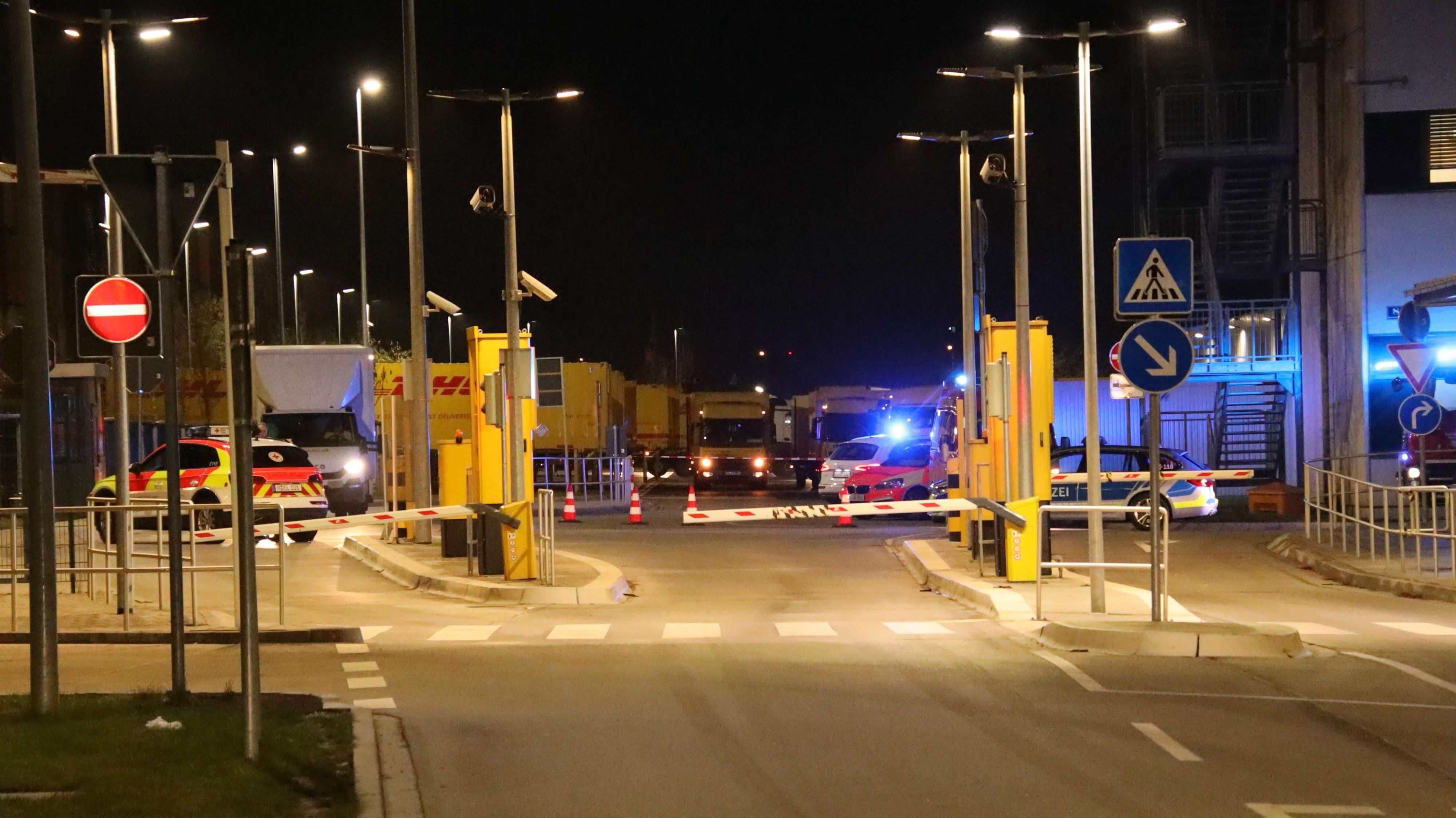 Polizeieinsatz am Regensburger Frachtpostzentrum