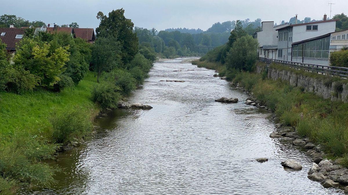 Noch ist die Lage an der Traun in Traunstein entspannt