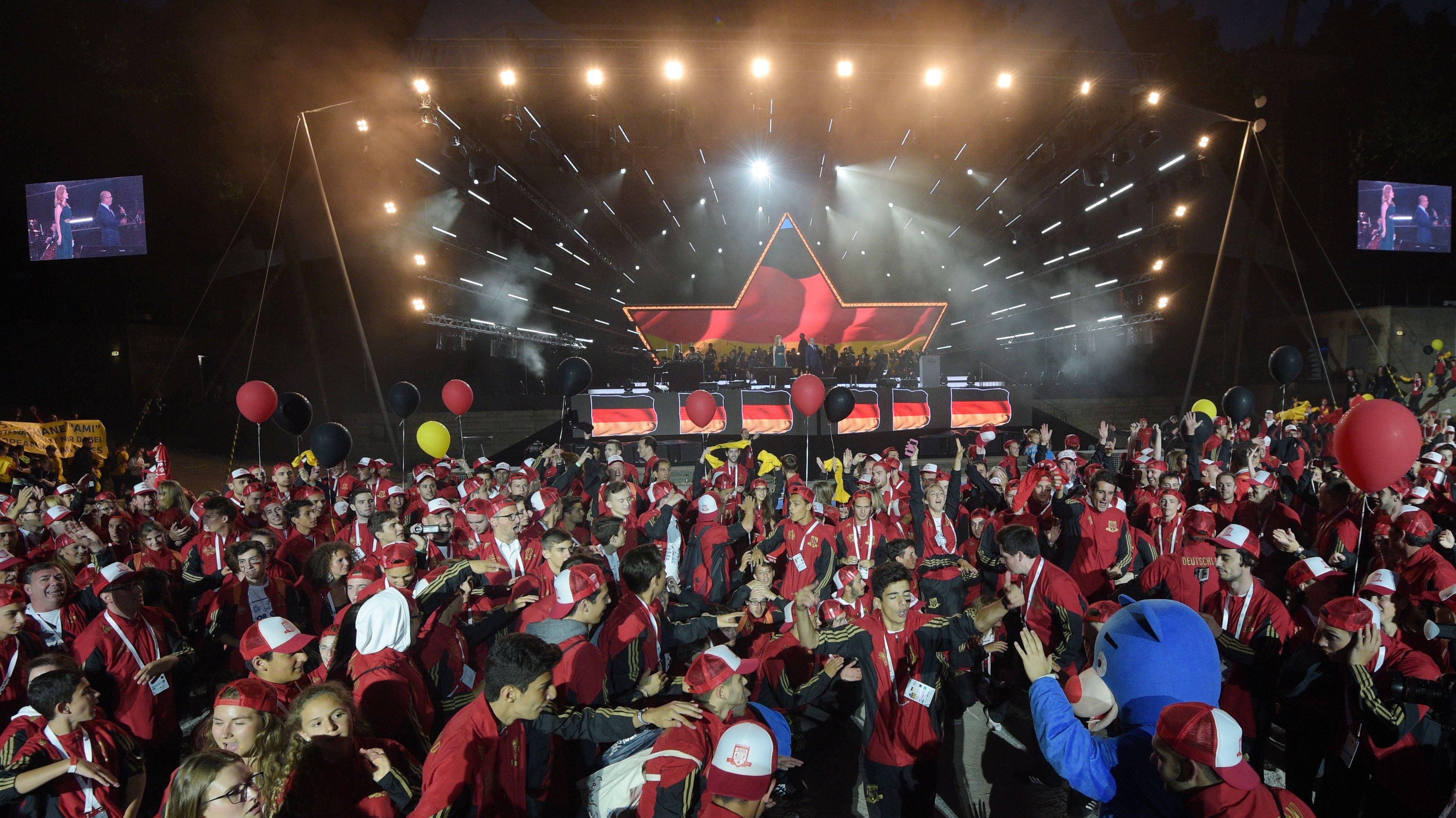 Eröffnungsfeier der 14. Europäischen Makkabi Spiele 2015