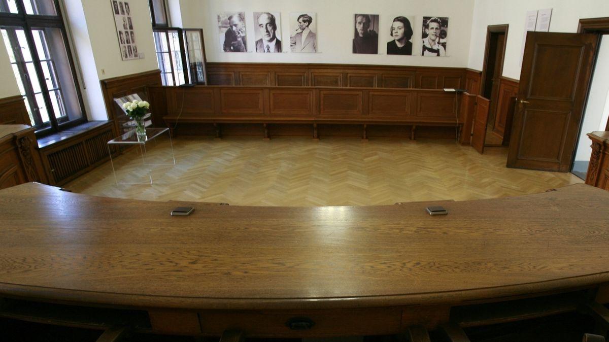 Gerichtssaal 216 im Münchner Justizpalast